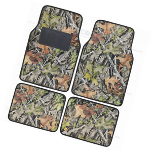 Camo Mats For Car Suv Truck 4 Pc Floor Mat Camouflage Rubber Backing Oak