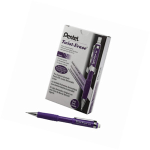 Pentel Twist erase Iii Mechanical Pencil 12 Pack 0 9mm Violet Barrel qe519v