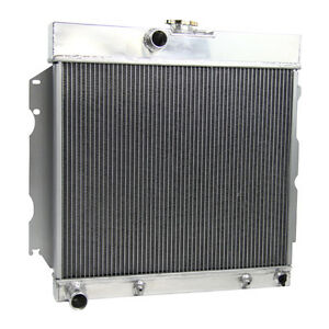 4 Row Aluminum Radiator For 63 64 65 66 67 68 69 Dodge Dart Plymouth Valiant V8