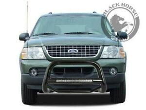 Black Horse 2002 2005 Ford Explorer Black Max Beacon Led Bull Bar Bumper Guard