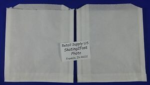 Dry Wax White Paper Sand Bags Concession Machine Supplies 6 X 0 75 X 6 5