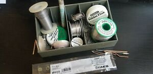 Solder Wire lot Of 6 Rolls Kester Alpha Oatey Tips Desolderi Wicks Flux