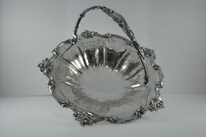 Antique 1840s Roberts Slater Silverplate Bride S Basket