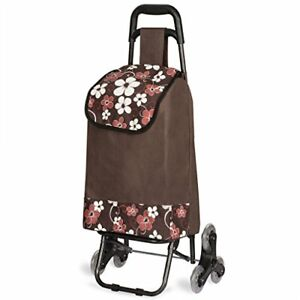 Stair Climbing Multipurpose Folding Utility Cart For Laundry Grocery Shopping