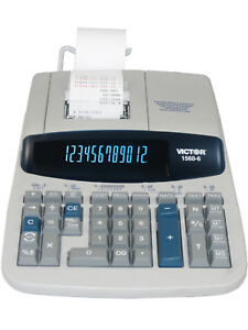 Victor Technology 1560 6 12 digits Professional Heavy duty Printing Calculator