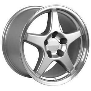 Silver Wheel 17x9 5 W Machined Lip For 1993 2002 Chevy Camaro Owh0124