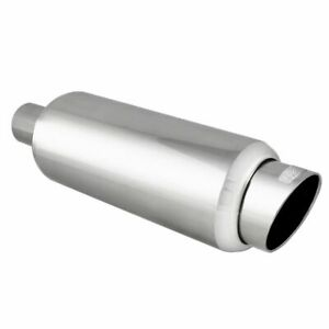 Dc Sports Stainless Steel Mirror Polish Finish Muffler Silencer With Tip Ex 5016
