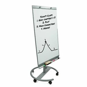 Mind Reader Portable Magnetic Dry Erase Easel 360 Degree Rotating White Board