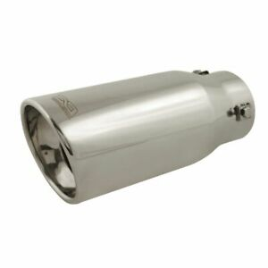 Dc Sports Resonated Stainless Steel Bolt On Exhaust Muffler Silencer Tip Ex 1010