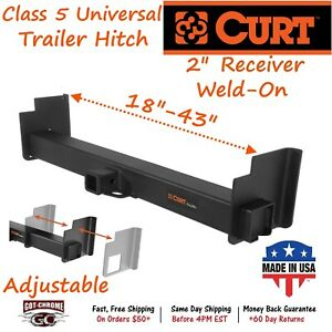 15901 Curt Universal Weld On Trailer Hitch With 2 Receiver Tube