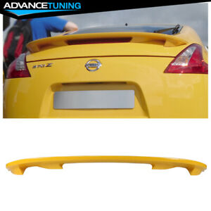 For 09 20 Nissan 370z Z34 Oe Trunk Spoiler Painted Color eac Yellow