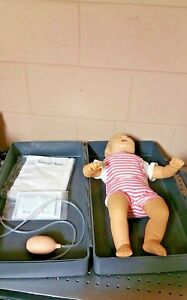 Laerdal Resusci Baby Anne Cpr Training 1 Infant Manikin With Hard Gray Case