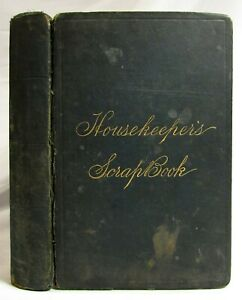 Antique Victorian Manuscript Cookbook Handwritten Recipes Houskeeper S