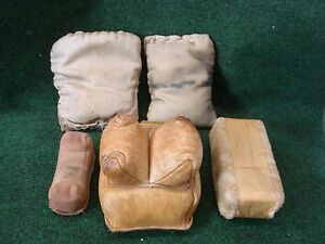 leather and cloth rifle rest bags  protektor + 3 more