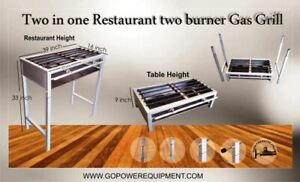 Restaurant Gas Grill Professional Commercial Griddle Two Burner Cooker