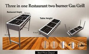 Restaurant Gas Grill Professional Commercial Griddle Three Burner Cooker