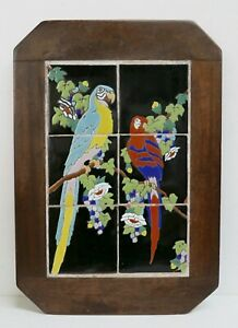 Vintage Taylor Tile Panel With Parrots California