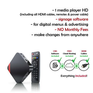 Digital Signage Menu Players With Free Signage Software