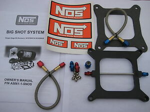 Nos Nitrous Nx Zex Edelbrock Nos Bigshot Holley 4150 Plate Kit 175 400hp New
