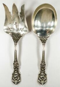 Francis 1st Reed Barton Sterling Silver Salad Serving Set No Mono New Mark