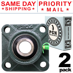 Ucf204 12 Solid Base Pillow Block Flange Mounted Bearing 3 4 Bore 4 Bolt 2 Pcs