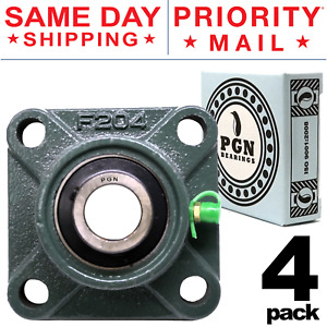Ucf204 12 Solid Base Pillow Block Flange Mounted Bearing 3 4 Bore 4 Bolt 4 Pcs