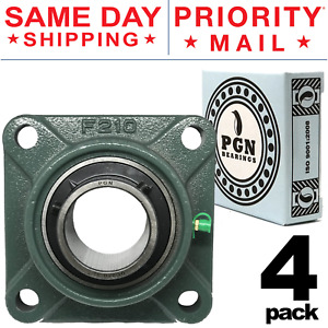 Lot Of 4 Ucf210 32 Pillow Block Square Flange Mounted Bearing 2 Inch Bore