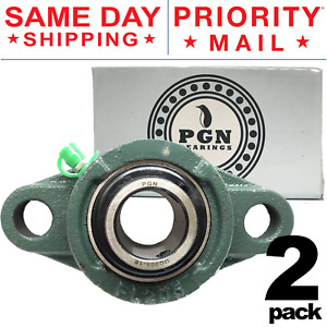 Ucfl205 16 Solid Base Pillow Block Flange Mounted Bearing 1 Bore 2 Bolt 2 Pcs