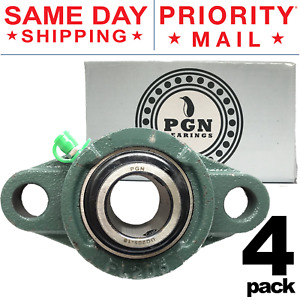 Ucfl205 16 Solid Base Pillow Block Flange Mounted Bearing 1 Bore 2 Bolt 4 Pcs