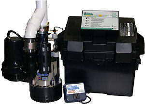 Glentronics Inc Battery backup Sump Pump System 5 hp Motor Bw4000