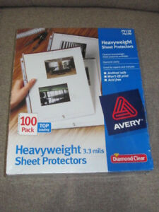 Avery Diamond Clear Heavyweight Sheet Protectors Pv119 74100 100 pack