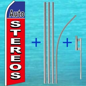 Auto Stereos Flutter Flag Pole Mount Kit Advertising Feather Swooper Banner