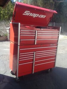 Red Snap on Tool Box Top And Bottom Chest Krl761b Kl791a Tools Not Included