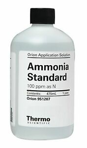 Thermo Scientific Ammonia Standard 100ppm As N 1 Pint 951207 1 Each