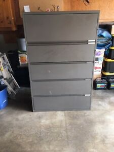 used Steelcase 5 Drawer Lateral Metal File Cabinet pickup Only Occd2