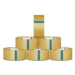 12 Rolls Carton Sealing Clear Packing Shipping Box Tape 2 5 Mil 2 inch X