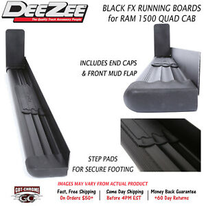 Fx31232 Dee Zee Fx Black Running Boards For Ram 1500 Quad Cab 2013 2018