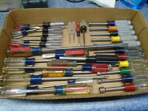 Vintage Craftsman Usa Huge Screwdriver Lot 36 Pieces All Different