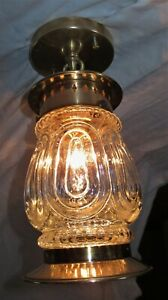Vintage Deco Brass Porch Fixture By Lightolie Chandelier Ceiling Light 1940 S
