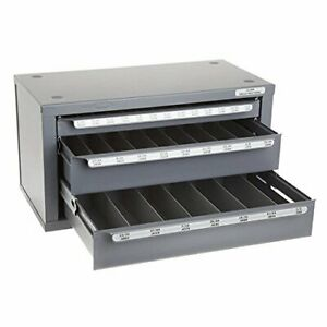 Huot 13000 Fractional Drill Dispenser Organizer Cabinet Holds 1 16 1 2 Bits