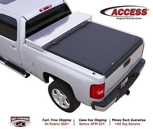 62329 Access Cover Toolbox Tonneau Cover Soft Roll Up For 19 21 Otr Toolbox