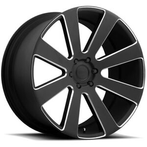 4 Dub S187 8 Ball 22x9 5 6x135 30mm Black Milled Wheels Rims 22 Inch