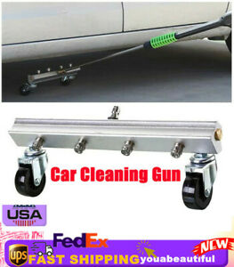 Car Under Body Chassis Washer 4 Spray Nozzle Water Clean Gun Kit High Pressure