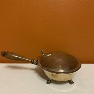 Vintage Sheffield Silver Co Silverplate Crumber Silent Butler Wood Handle