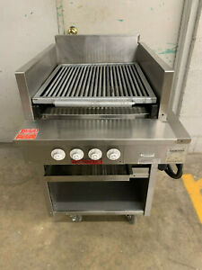 Magikitch n Electric Charbroiler Grill Fse24 Floor Type 24 208v 3 Phase Tested