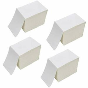 4 X 6 Fanfold Direct Thermal Labels White Shipping Mailing Postage Labels