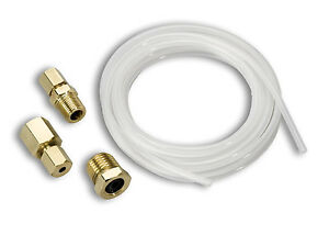 Auto Meter 3223 1 8 Nylon Tubing 10 Feet With Ferrules Fittings
