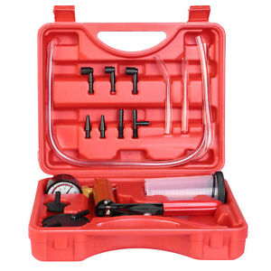 Auto Vacuum Pump Tester Set Vacuum Pump Brake Bleeder Kit Gauge Test Tuner Tools