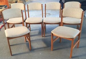 Benny Linden Danish Modern Dining Chairs Set Of 6
