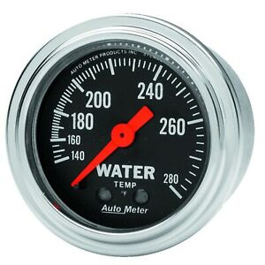2431 Auto Meter Traditional Chrome Mechanical Water Temperature Gauge 2 1 16 In